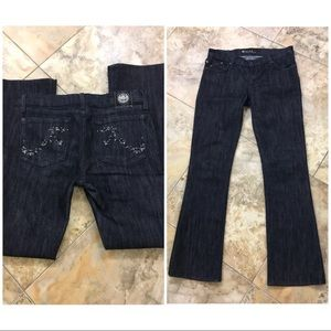Rock & republic bootcut jeans size 27 dark blue